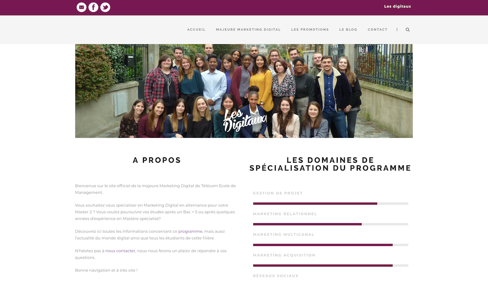 Students home page